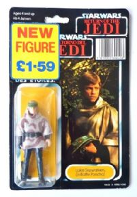 Star Wars Palitoy Tri-Logo Luke Skywalker Poncho 79 Back Mint on Card